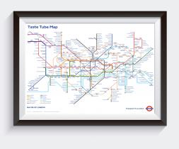 Taste Tube Map (TfL) A1  (840mm  x 594mm)